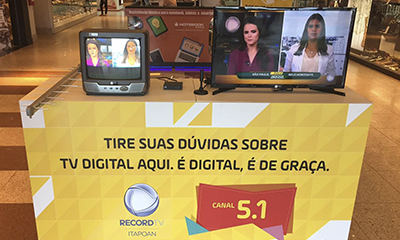 RecordTV Itapoan realiza ação no Salvador Norte Shopping sobre TV Digital